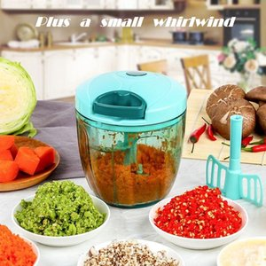 Multifunction Processor Vegetable Chopper Cutter Chopper Garlic Cutter Vegetable Fruit Twist Shredder Manual Meat Grinder juice