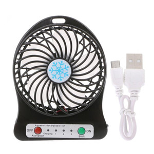 Portable LED Light Mini Fan Air Cooler Mini Desk USB Fan Third Wind USB Rechargeable ABS Portable Office Outdoor Home