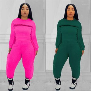 Casual Slim Long Sleeved Crew Neck Sports Suits Fashion Women Tracksuits Womens Designer Tracksuits 2 Piece Pants Wooden Ear Autumn