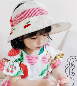 Girls' Hat Summer Thin 4-8 Years Old Children's Big Hat Brim Open Top Sunscreen Baby Foreign Style Sun Hat Wholesale