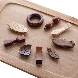 Vacclo Arte Artigianato bacchette di legno Holder Resto Foglia Anatra Posabacchette Stander Ecologico Utensili da cucina in articoli per la tavola