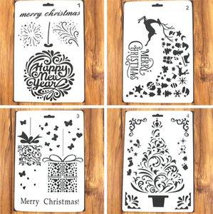 26cm Ciervos de la Navidad DIY de estratificación Plantillas para colorear pintura de pared Álbum de recortes de grabación en relieve decorativo del modelo del álbum