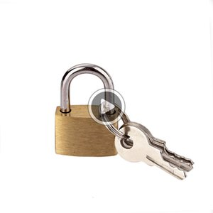 صغيرة الحجم النحاس قفل فيت كيز - بأمان قفل الخزائن، أداة ثور، ackpack أو الحاويات. يتضمن 2 مفاتيح أوسكار