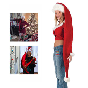 Christmas Santa Claus Hat Super Long Novelty Ornaments Holiday Party Decoration For Kids and Adults