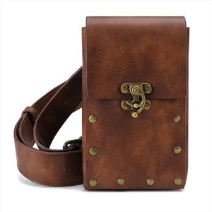 waist bag Medieval renaissance adult male Viking Knight pirate cosplay leather vintage pocket belt clothing bag