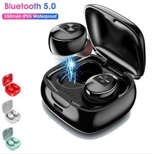 XG12 TWS Bluetooth iPhone 8 için mikrofonlu 5.0 Kulaklık Stereo Kablosuz Earbus HIFI Ses Sport Kulaklık Eller serbest Gaming Headset X'ler 11 pro