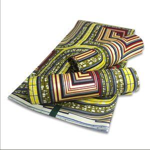 الأفريقية الجديدة ذهبية الشمع مواد النسيج القطن عالية الجودة طباعة أنقرة الشمع للخياطة 6yards المرأة ثوب قماش