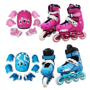 Chegada Nova infantil patins de gelo ajustável rolo removível e lavável Formação Patins Inline Skating completa piscando patins Suit rolo