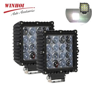 Car Work Light Led 12 24V 80W 4D 4X4 Combo Spot Flood Offroad Driving Waterproof Boat Tractor Truck SUV ATV