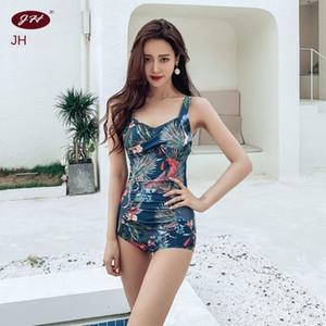 maiô novo de uma peça triangular slim slimming Jin Yi Hong nv yong yi nv yong das mulheres com maiô fio protetor solar sexy pequeno baú reunidos