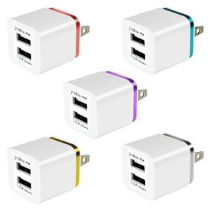 شاحن حائط نوعية جيدة 5V 1A 2.1 + USB مزدوجة AC السفر التوصيل الولايات المتحدة شاحن مزدوج للحصول على سامسونج غالاكسي HTC محول الهاتف الذكي