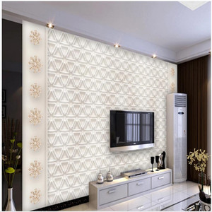 Simple European embossed pattern jewelry wallpapers TV background wall 3d murals wallpaper for living room