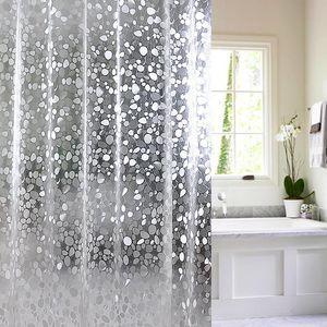 3D wasserdichte PVC-Duschvorhang Duschvorhang mit Haken Transparent Weiß Klar Badezimmer-Vorhang Luxusbad Vorhängen