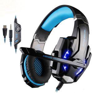 G9000 KOTION jedes Spiel Gaming Headset PS4 Spiele-Konsole Kopfhörer-Kopfhörer mit Mikrofon für PC Laptop playstation 4 PS4 Gamer Einzelhandel
