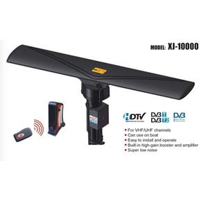 TV Outdoor Amplified Antenna Digital HD TV 1080P UHF VHF FM 40-860MHz 20±3dB 350 ° Rotation Black