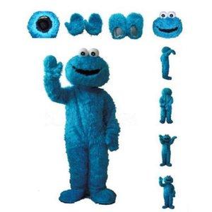 Adultes Sesame Street Bleu Cookie Monster Costume et Elmo mascotte des ventes de haute auality longue fourrure Elmo costume de mascotte Livraison gratuite