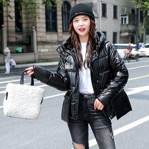 KJMYYX 2020 hiver de femme Veste manteaux surdimensionné en vrac Outwear coréenne style épais manteau à capuchon en coton rembourré Parkas Femme