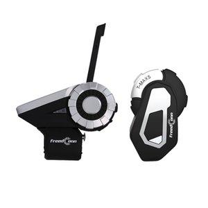 T-Rex + T-MAX S Motocicleta Grupo Bluetooth Intercom Helmet Headset 1500M 8 Riders sem fio Communicator com suporte FM