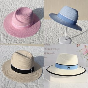 2019 summer straw visor toque Straw toque sunshade men's and women's fashion fashion hat scar adjustable spring and summer hat for women UgW