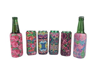 يغطي زجاجة جديدة الطعام يمكن كم عباد الشمس النيوبرين عازل تبريد البيسبول يمكن حامل زجاجة مياه الحقيبة ليوبارد زهرة