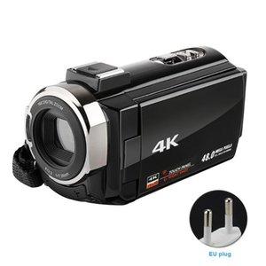 Ультра HD портативный внешний микрофон видеокамеры Аккумуляторная USB Подарок ночного видения Цифровые видеокамеры 16X зум широкоугольный WIFI