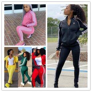 En stock femme Survêtement lettres designerâ manteau Vestes Pantalons Legging Outfit Zipper Tops Manteaux 2Pcs / Set Costume Sport Automne Survêtement E82602