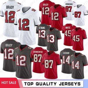12 Tom Brady 87 Rob Gronkowski Uomo Calcio maglie 2020 nuovi uomini maglie Chris Godwin Devin White Mike Evans Hot