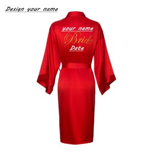 JRMISSLI personnalisé Robe de mariée femmes peignoir équipe de mariage personnalisé femme robes de satin de soie demoiselle d'honneur pour les femmes robes de mariée CX200818