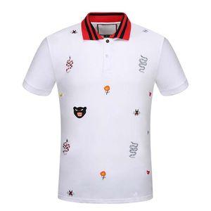 Nueva moda para hombre polo camisa de manga corta hombres algodón rayado poloshirt camisa de alta calle polo tops t shirts 3xl