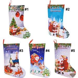 Christmas Stocking Gift Bags Felt Cloth Christmas Tree Sock Xmas Candy Storage Bag Festive Party Supplies Xmas Decorations Bag