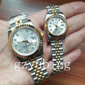남성 남성 여성 여성 시계 시계 연인 커플 스타일 28mm / 36mm 클래식 자동 운동 기계 레이디 손목 시계