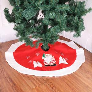 Noel Yüksek Kaliteli süslemeler gri flanel Noel ağacı İçin Yeni Noel Ağacı Etek flanel 90cm Noel Decor etek