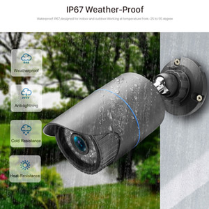 رصاصة 2MP 3MP 5MP الأمن POE 48V كاميرا IP شبكة معدنية كاميرا فيديو مراقبة 1080P للرؤية الليلية في الهواء الطلق CCTV كاميرا XMEye