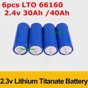 6pcs LTO 66160 2.4V 30Ah 35Ah 40AH Lithium-Titanat-Batterie-Zellen-2.3V 10C 300A für 12V 14,4V Leistung Lange Lebensdauer EV Golfcart