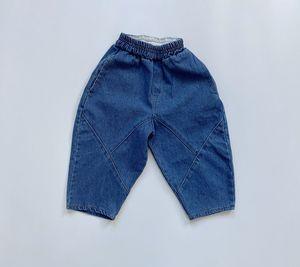 FM ins Japan New Quality Fall Kids Boys Girls Jeans Denim Trousers Korean Jeans Girls Boys Casual Denim Pants Long Trousers Children Clothes