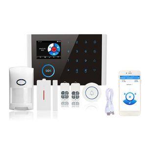 CS108 Schaltbare Wireless Home Sicherheit Wifi Gsm Gprs Alarmanlage App Fernbedienung Arm Entwaffnen Tür / Fenster-Sensor