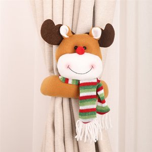 Santa Claus Elk Windows Christmas Curtain Decor Merry Christmas Decor for Home Christmas Gifts 2021 Happy New Year Free Shipping