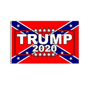 Ucuz Fiyat Ulusal Ücretsiz Kargo Asma, 2020 Konfederasyon ve Trump bayrakları, Özel Dijital Baskılı 3X5FT Flags 3x5ft