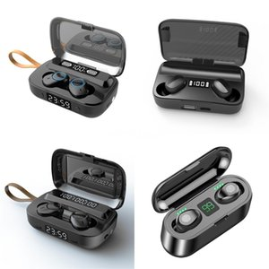 Kutu # 169 Şarj X8S X9 Bluetooth TWS 5.0 Gerçek Kablosuz Kulaklık 9D Stereo Bluetooth Kulaklık Mini TWS Su geçirmez Headfrees ile Led Ekran