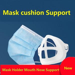 Titular boca máscara nariz soporte de la cubierta de la cara Artefacto soporte del soporte interno facilitar la respiración boca Espacio sostenedor de la cubierta reutilizable DHC978