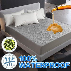 Bed Cover Solid color Polyester Mattress add cotton Protector Waterproof Mattress Topper for Bed Anti-mite Cover