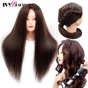 85% Formación de pelo Maniquí real principal del pelo humano el cabello para la práctica profesional de peluquería cosmetología cabeza de la muñeca Para Braid