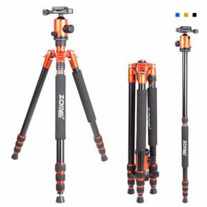Zomei Z818 portatile di alluminio professionale Viaggi fotocamera treppiede con piastra a sgancio rapido monopod gambe del treppiede flessibile