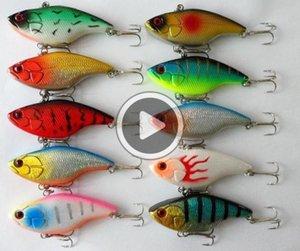 pêche VIB haute Qnlity Carppie Lure / 7.5cm 16G lumineux Minnow pêche à la mouche de pêche appât doré jaune dur Leurres