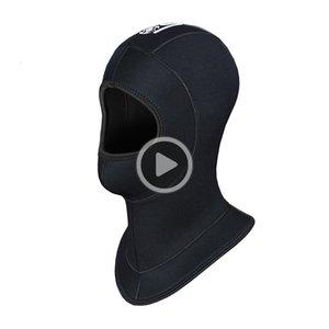 - حقيقية Slinx العلامة التجارية 5MM سميكة النيوبرين الغوص قبعات هود هات الدفء إثبات الباردة معدات الشتاء السباحة بذلة الرطب البدلة