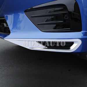 For Volvo XC60 Second generation 2018-2019 ABS Chrome Bottom Front Fog Light Lamp Cover Trim 2pcs