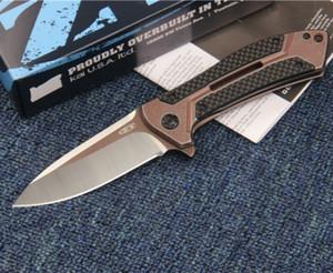 ZT Zero Tolerance 0801CF ZT0801CF ZT0801 D2 blade ball bearing Folding hunting camping knife gift knife