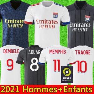 20 21 Olympique Lyonnais lyon soccer jersey 2020 2021 Lyon camiseta de fútbol TRAORE MEMPHIS AOUAR MENDES