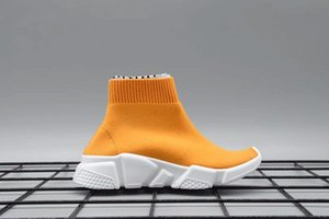 2018 cheap Luxury Sock Shoe Speed Trainer Running Sneakers Trainer Sock Race Runners black Shoes kid Sports Shoes 25-35