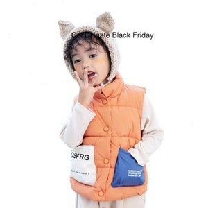 New Baby I bambini vestiti di inverno del bambino delle ragazze dei ragazzi cotone imbottito della maglia dei bambini senza maniche del cappotto casuale bambini Windbreaker Waiscoat